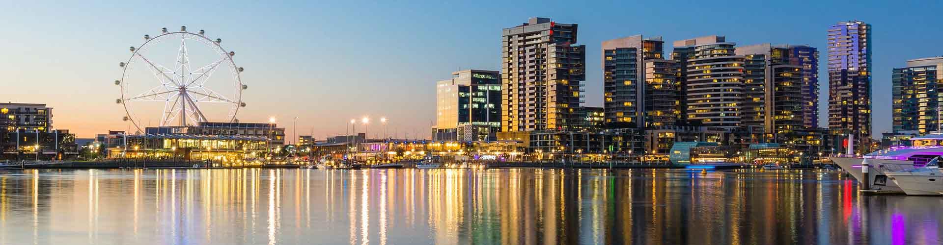 멜버른 - 시티 센터와 가까운 호스텔. 멜버른의 지도, 멜버른에 위치한 호스텔 사진 및 후기 정보.