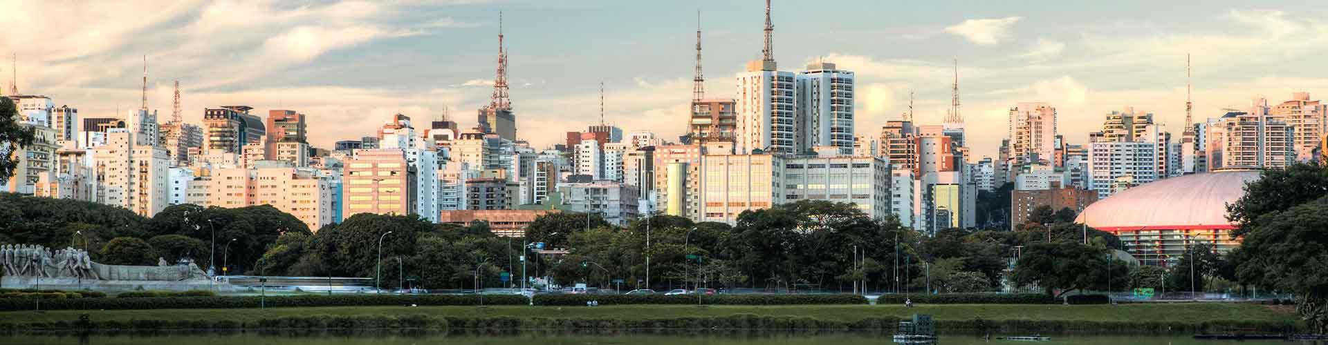 상파울로 - 콩고냐스 - 상파울루 공항에 가까운 호스텔. 상파울로의 지도, 상파울로에 위치한 호스텔에 대한 사진 및 리뷰.