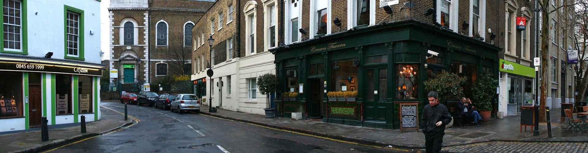 런던 - Clerkenwell지역에 위치한 호스텔. 런던의 지도, 런던에 위치한 호스텔에 대한 사진 및 리뷰.