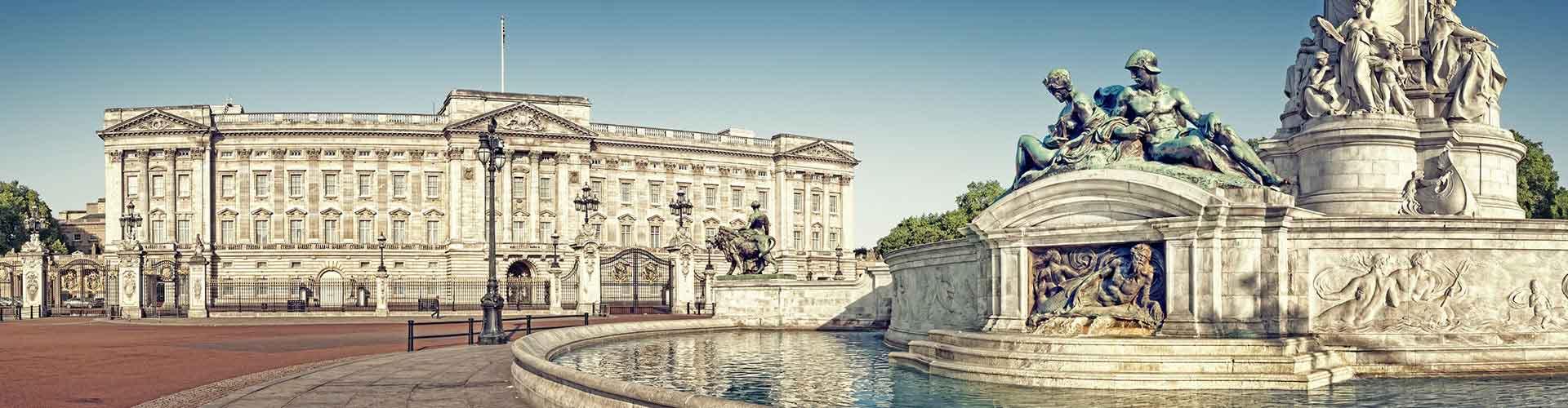 런던 - 버킹엄 궁전에 가까운 호텔. 런던의 지도, 런던에 위치한 호텔에 대한 사진 및 리뷰.