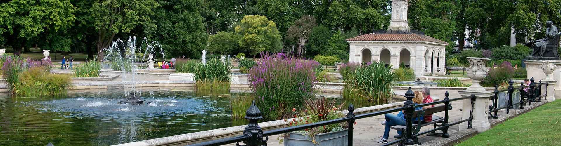 런던 - Hyde Park와 가까운 호스텔. 런던의 지도, 런던에 위치한 호스텔 사진 및 후기 정보.