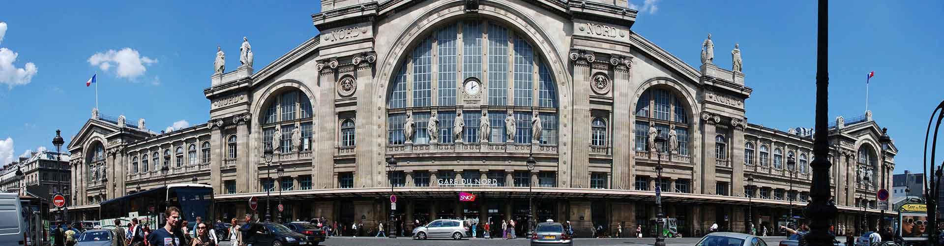 파리 - Train Station Gare du Nord 지구의 호스텔. 파리의 지도, 파리에 위치한 호스텔 사진 및 후기 정보.