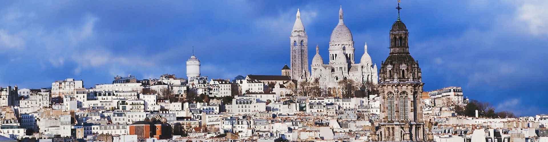 파리 - Montmartre 지구의 호스텔. 파리의 지도, 파리에 위치한 호스텔 사진 및 후기 정보.
