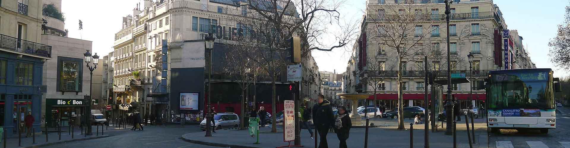 파리 - Pigalle지역에 위치한 호텔. 파리의 지도, 파리에 위치한 호텔에 대한 사진 및 리뷰.