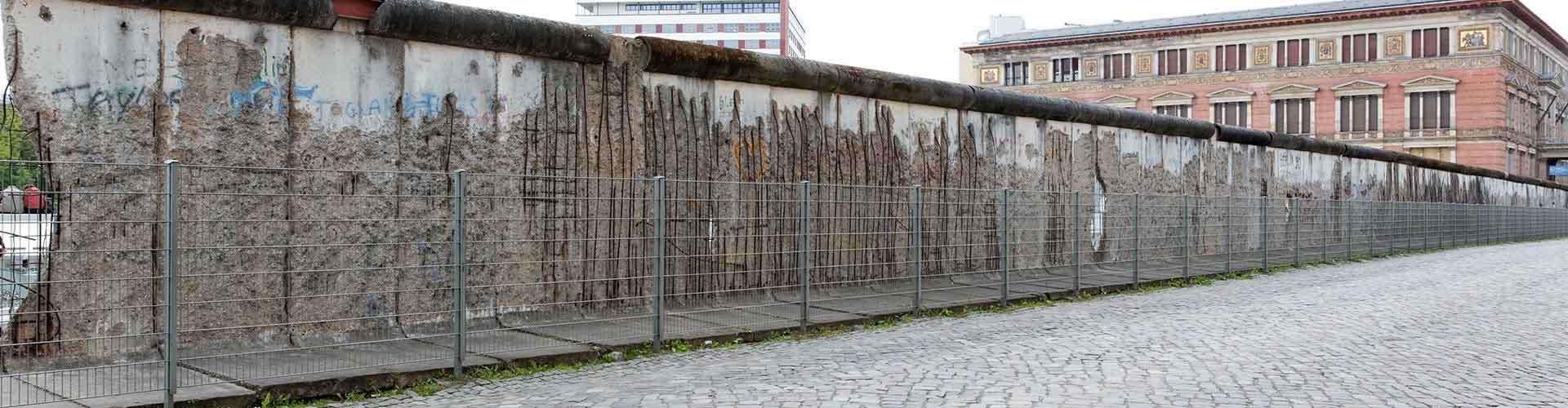 베를린 - 베를린 장벽에 가까운 호텔. 베를린의 지도, 베를린에 위치한 호텔에 대한 사진 및 리뷰.