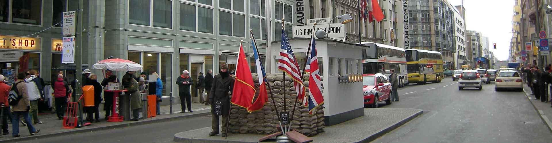 베를린 - 체크 포인트 찰리에 가까운 캠핑장. 베를린의 지도, 베를린에 위치한 캠핑장에 대한 사진 및 리뷰.