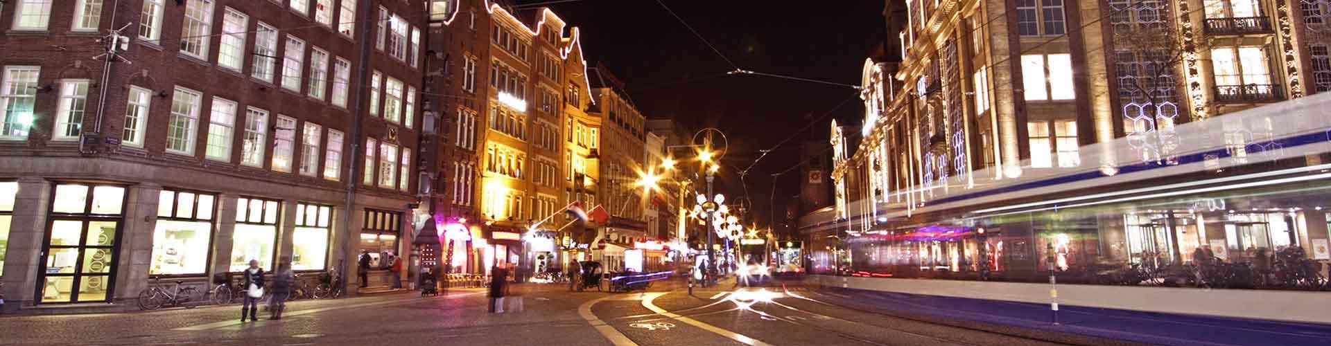 암스테르담 - 담 광장에 가까운 캠핑장. 암스테르담의 지도, 암스테르담에 위치한 캠핑장에 대한 사진 및 리뷰.