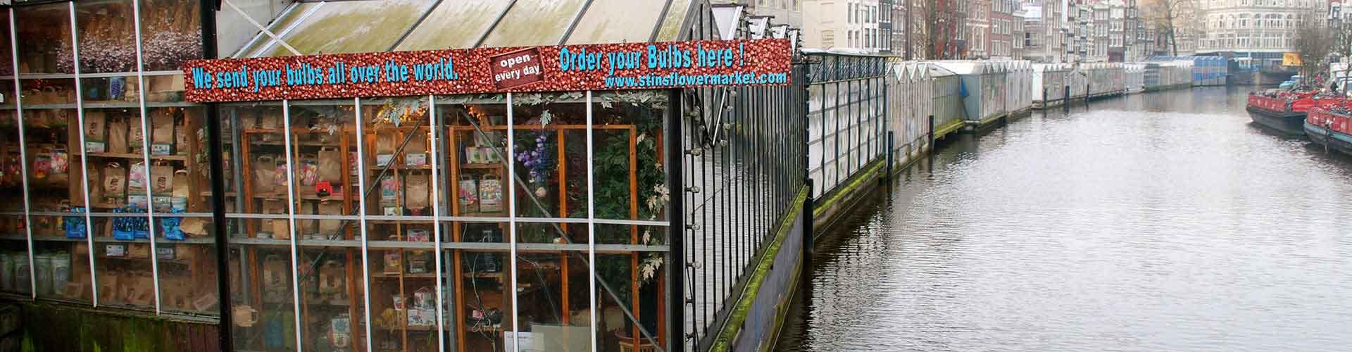 암스테르담 - 꽃 시장에 가까운 호텔. 암스테르담의 지도, 암스테르담에 위치한 호텔에 대한 사진 및 리뷰.