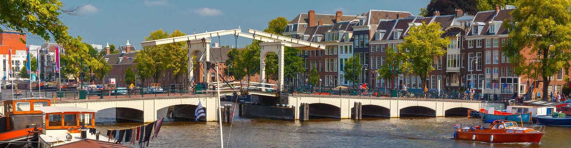 암스테르담 - 마헤레 다리에 가까운 캠핑장. 암스테르담의 지도, 암스테르담에 위치한 캠핑장에 대한 사진 및 리뷰.