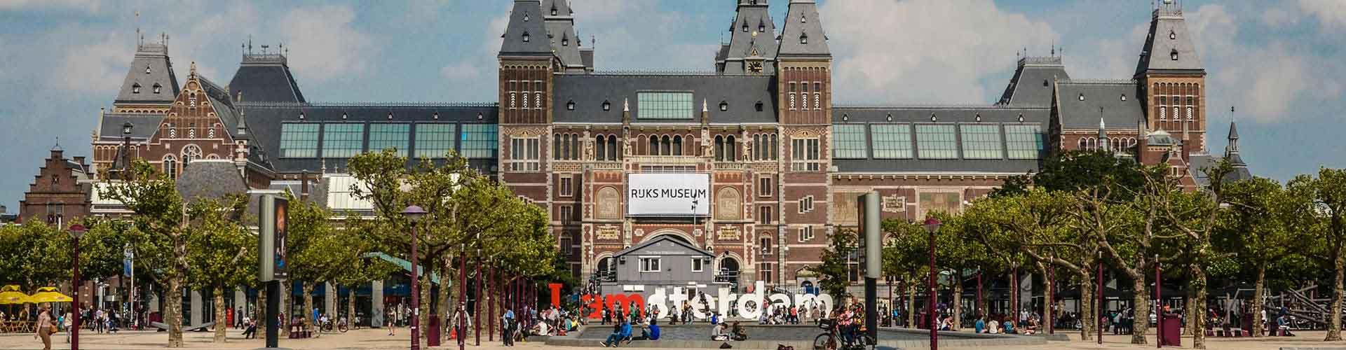 암스테르담 - 레이크스 미술관와 가까운 호스텔. 암스테르담의 지도, 암스테르담에 위치한 호스텔 사진 및 후기 정보.