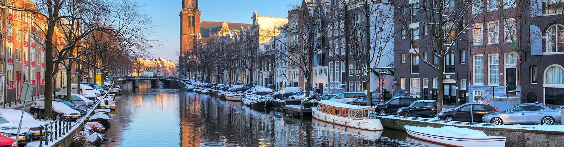 암스테르담 - 암스테르담 서교회에 가까운 캠핑장. 암스테르담의 지도, 암스테르담에 위치한 캠핑장에 대한 사진 및 리뷰.