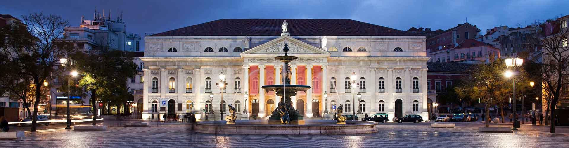 리스본 - 로시오 광장과 Teatro Nacional D. Maria II에 가까운 아파트. 리스본의 지도, 리스본에 위치한 아파트에 대한 사진 및 리뷰.