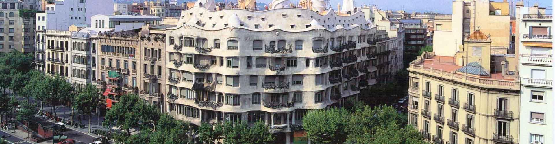 바르셀로나 - 까사 밀라에 가까운 호스텔. 바르셀로나의 지도, 바르셀로나에 위치한 호스텔에 대한 사진 및 리뷰.