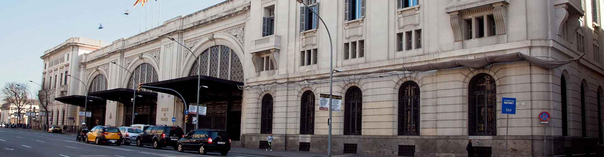 바르셀로나 - 프랑사 기차역에 가까운 호텔. 바르셀로나의 지도, 바르셀로나에 위치한 호텔에 대한 사진 및 리뷰.