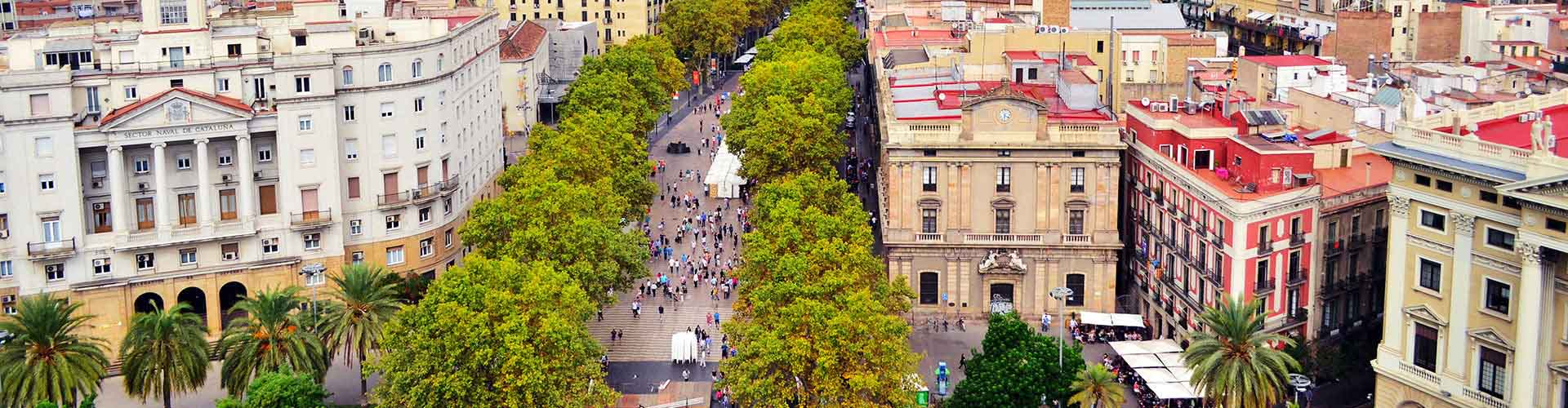 바르셀로나 - 람블라 거리 와 가까운 호스텔. 바르셀로나의 지도, 바르셀로나에 위치한 호스텔 사진 및 후기 정보.